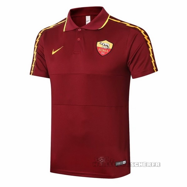 Equipement Maillot Foot Nike Polo AS Roma 2020 2021 Bordeaux