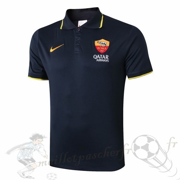 Equipement Maillot Foot Nike Polo AS Roma 2019 2020 Noir Jaune