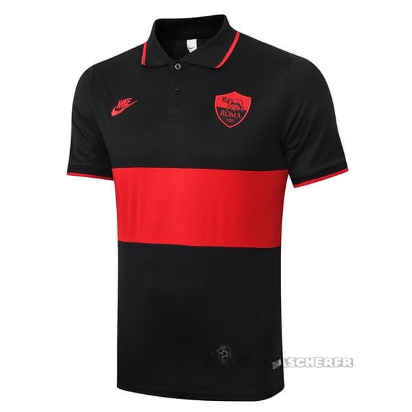Equipement Maillot Foot Nike Polo AS Roma 2019 2020 Noir Rouge