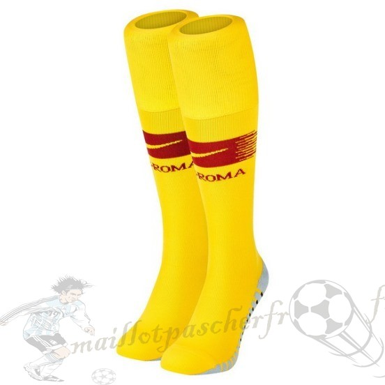 Equipement Maillot Foot Nike Domicile Chaussette As Roma 2018 2019 Jaune