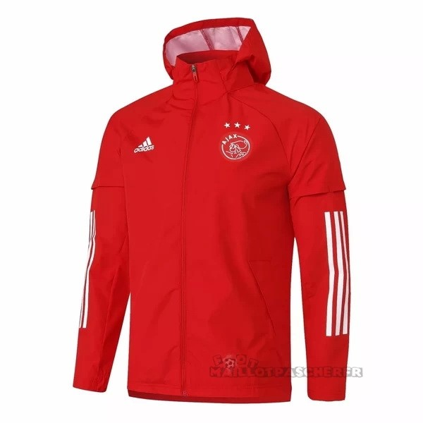 Equipement Maillot Foot adidas Coupe Vent Ajax 2020 2021 Rouge