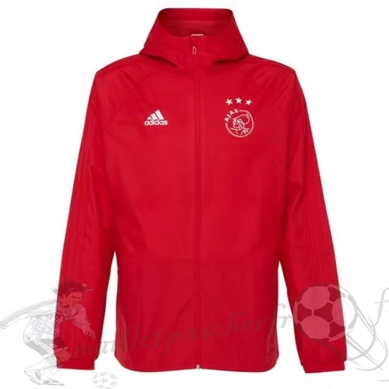 Equipement Maillot Foot Adidas Coupe Vent Ajax 2018 2019 Rouge