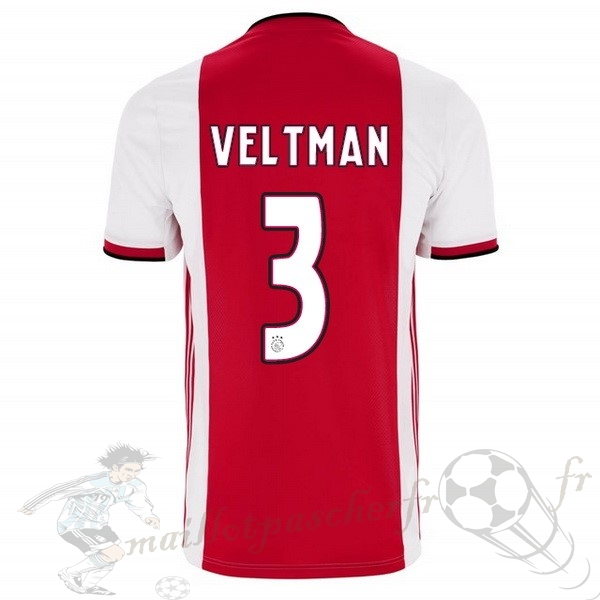 Equipement Maillot Foot adidas NO.3 Veltman Domicile Maillot Ajax 2019 2020 Rouge