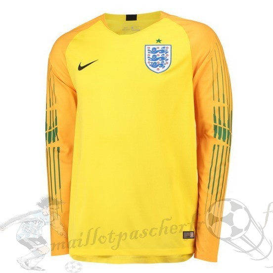Equipement Maillot Foot Nike Manches Longues Gardien Angleterre 2018 Jaune