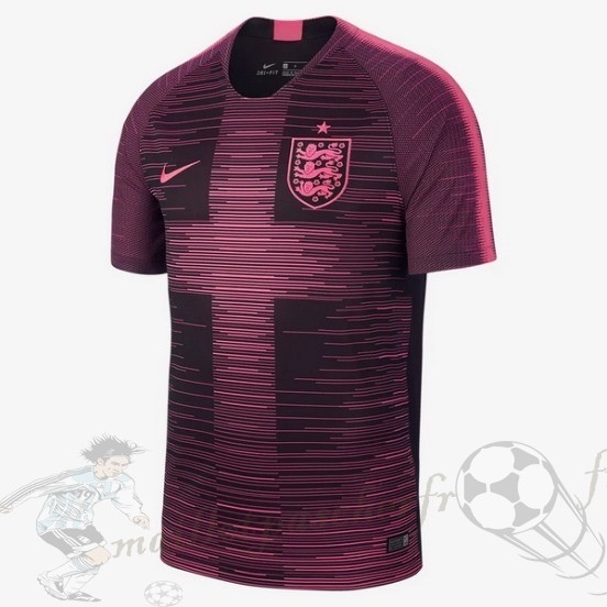 Equipement Maillot Foot Nike Pre Match Entrainement Angleterre 2018 Rose