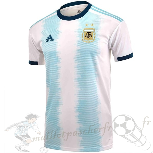 Equipement Maillot Foot Adidas Thailande DomiChili Maillot Argentine 2019 Blanc
