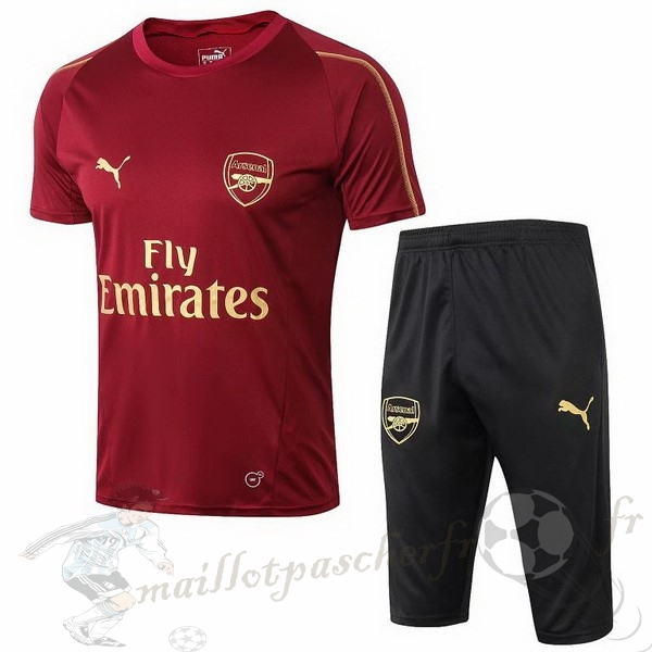 Equipement Maillot Foot Puma Entrainement Conjunto Completo Arsenal 2018 2019 Rouge
