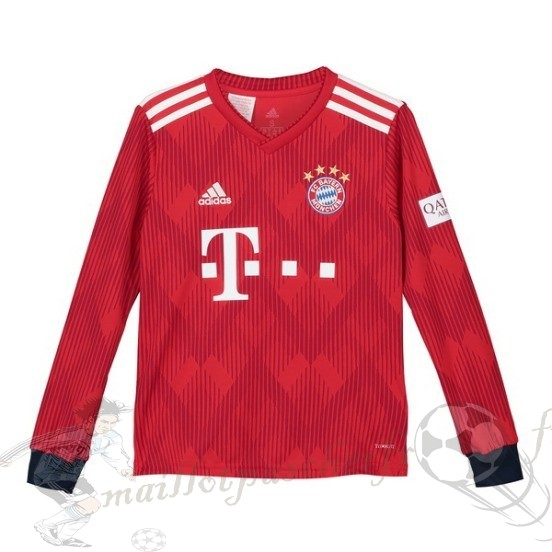 Equipement Maillot Foot Adidas Domicile Manches Longues Niños Enfant Bayern Munich 2018 2019 Rouge