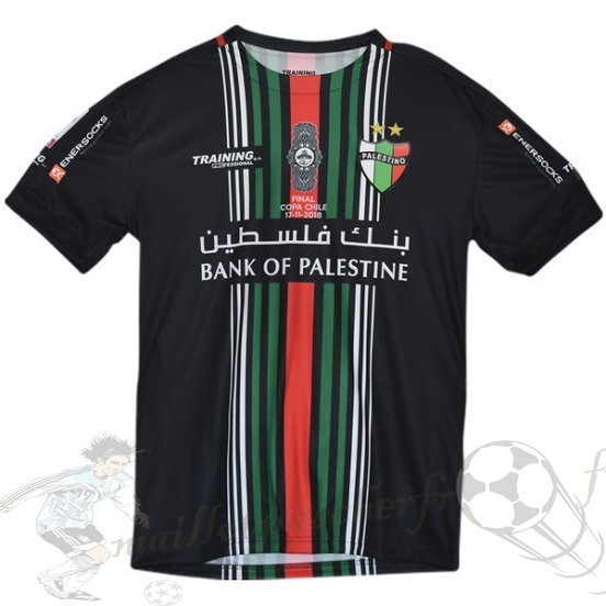 Equipement Maillot Foot Enersocks Coupe Finale Cd Palestino 2018 2019 Noir