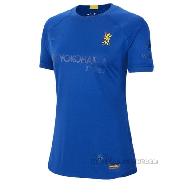 Equipement Maillot Foot Nike Maillot Femme Chelsea 50th Bleu