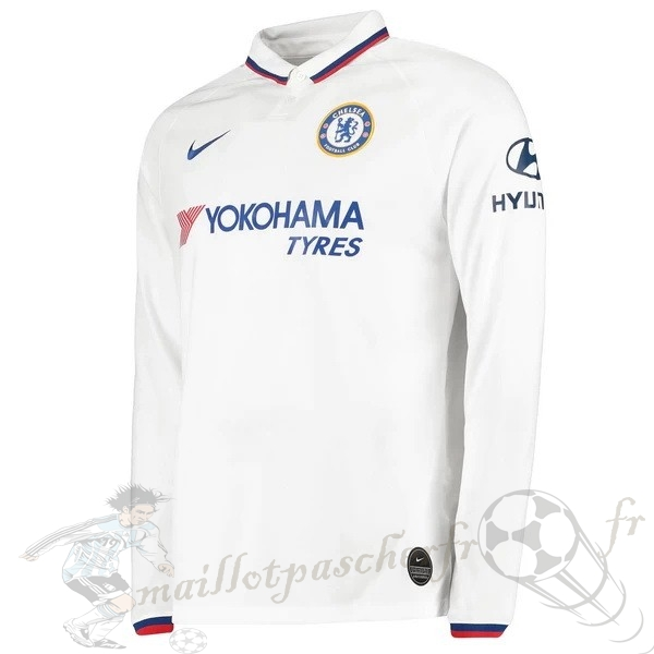 Equipement Maillot Foot Nike Exterieur Manches Longues Chelsea 2019 2020 Blanc