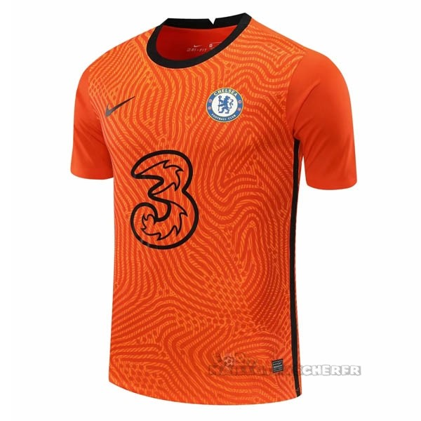 Equipement Maillot Foot Nike Maillot Gardien Chelsea 2020 2021 Orange