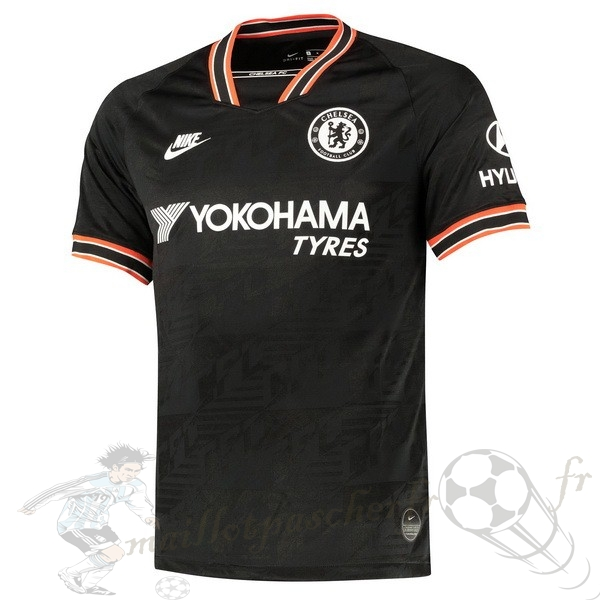 Equipement Maillot Foot Nike Thailande Third Maillot Chelsea 2019 2020 Noir