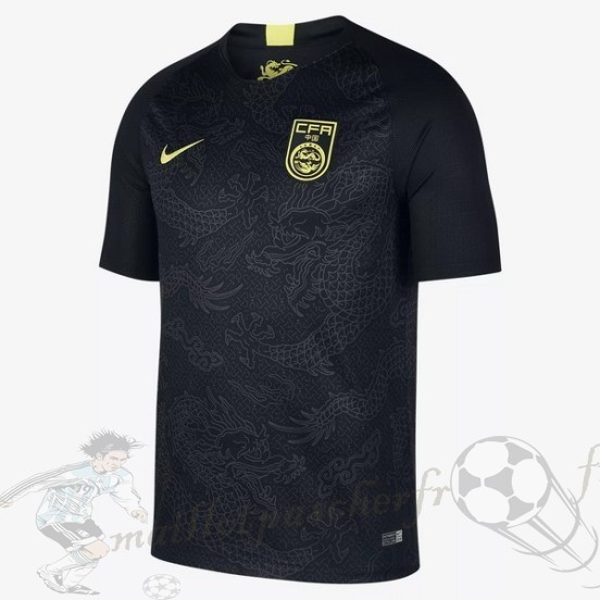 Equipement Maillot Foot Nike Exterieur Maillot Chine 2018 Noir