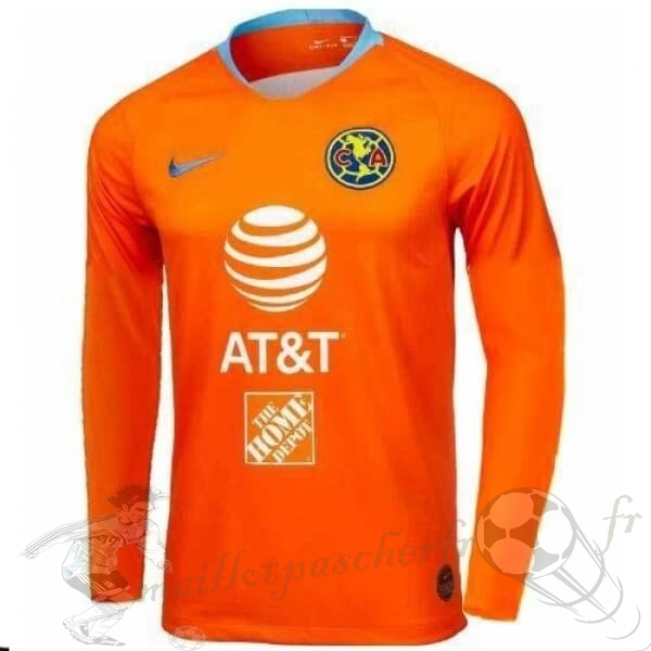 Equipement Maillot Foot Nike Third Manches Longues Club América 2019 2020 Orange