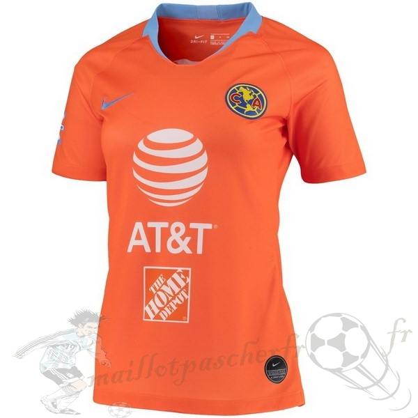 Equipement Maillot Foot Nike Third Maillot Femme Club América 2019 2020 Orange