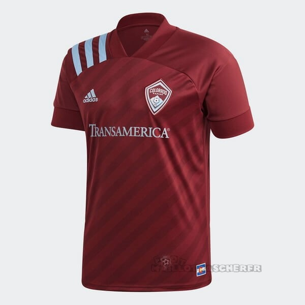 Equipement Maillot Foot adidas Domicile Maillot Colorado Rapids 2020 2021 Rouge