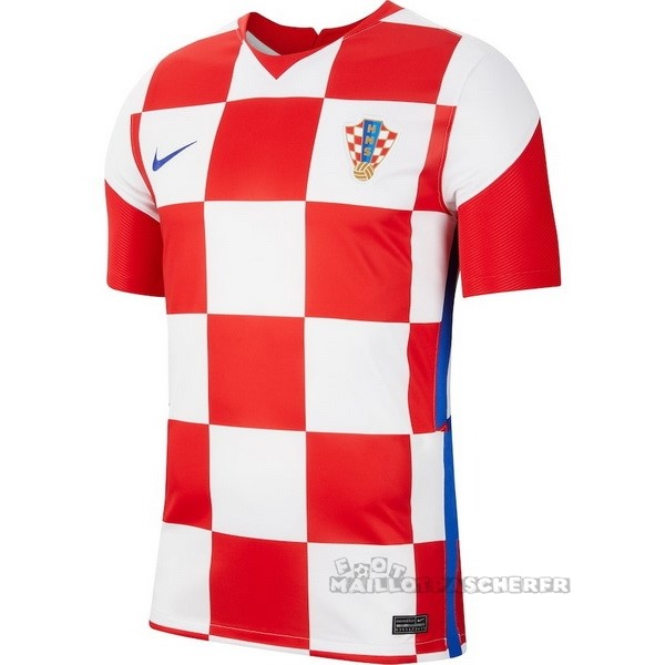 Equipement Maillot Foot Nike Domicile Maillot Croatie 2020 Rouge