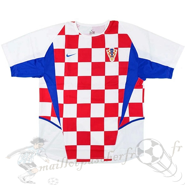 Equipement Maillot Foot Nike Domicile Maillot Croatie Retro 2002 Blanc Rouge
