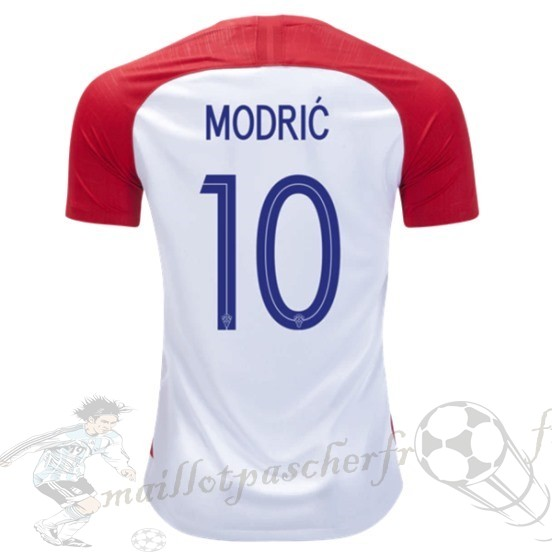 Equipement Maillot Foot Nike No.10 Mosric Domicile Maillot Croatie 2018 Rouge