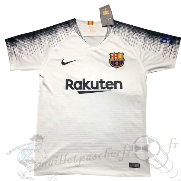 Equipement Maillot Foot Nike Entrainement Barcelona 2019 2020 Blanc Gris