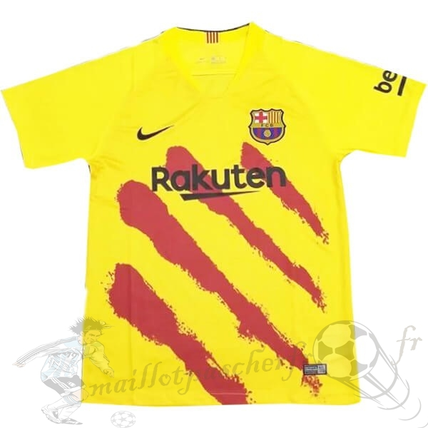 Equipement Maillot Foot Nike Entrainement Barcelona 2019 2020 Jaune