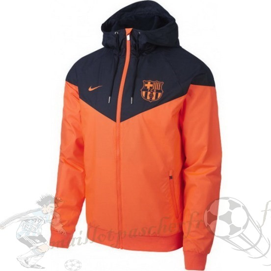Equipement Maillot Foot Nike Coupe Vent Barcelona 2018 2019 Bleu Orange