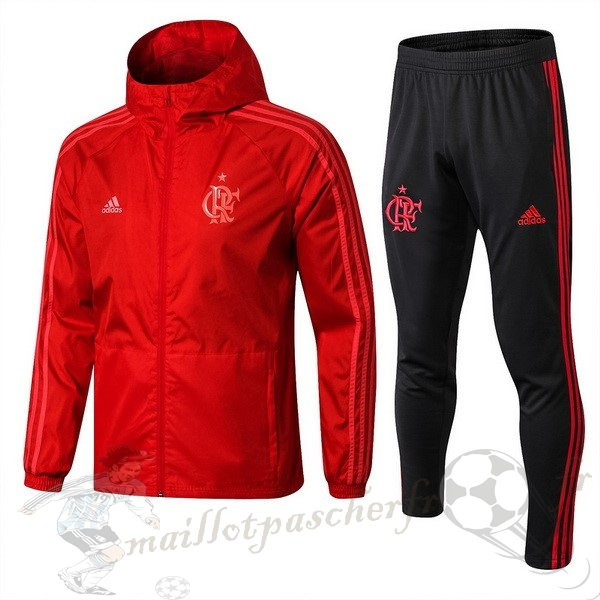 Equipement Maillot Foot adidas Ensemble Coupe Vent Flamengo 2018 2019 Rouge