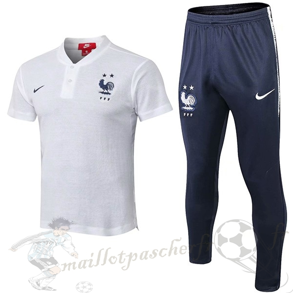 Equipement Maillot Foot Nike Conjunto Completo Polo France 2018 Blanc
