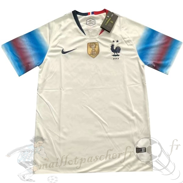 Equipement Maillot Foot Nike Thailande Exterieur Maillot France 2019 Blanc