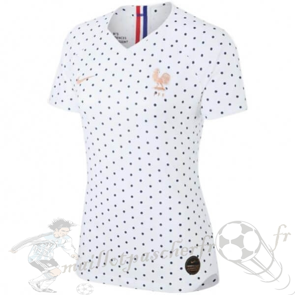 Equipement Maillot Foot Nike Exterieur Maillot Femme France 2019 Blanc