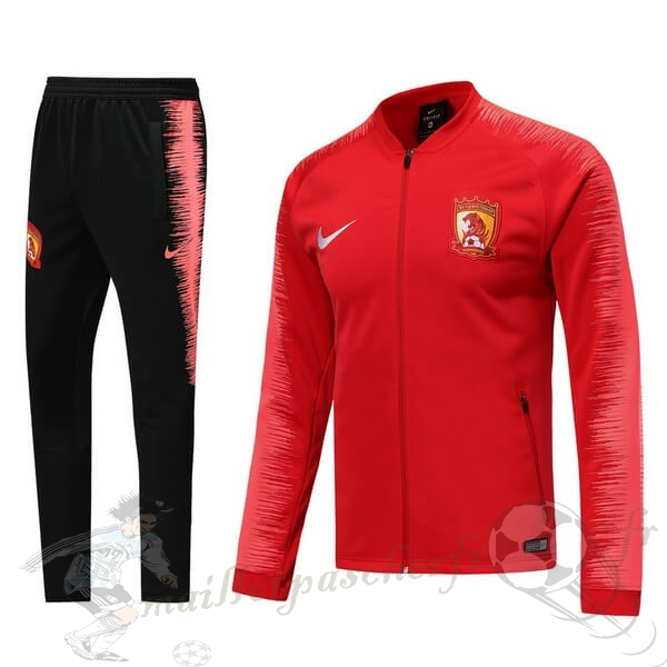 Equipement Maillot Foot Nike Survêtements Evergrande 2019 2020 Rouge