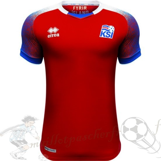 Equipement Maillot Foot Adidas Thailande Third Maillot Islande 2018 Rouge