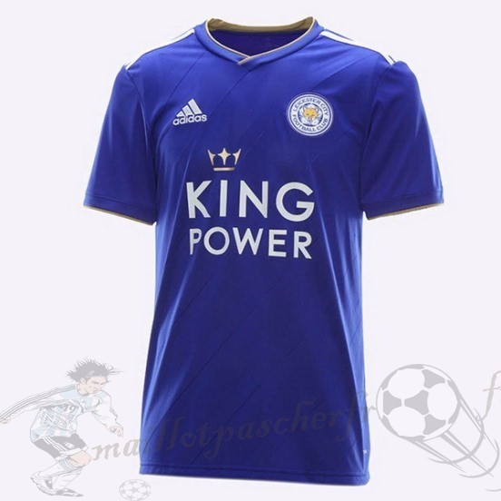 Equipement Maillot Foot Adidas Thailande Domicile Maillot Leicester City 2018 2019 Bleu