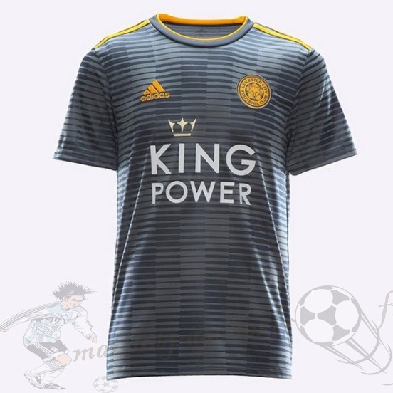 Equipement Maillot Foot Adidas Thailande Exterieur Maillot Leicester City 2018 2019 Gris