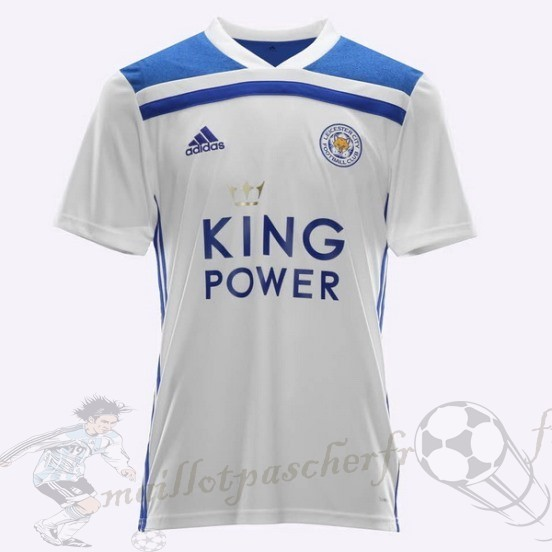 Equipement Maillot Foot Adidas Thailande Third Maillot Leicester City 2018 2019 Blanc