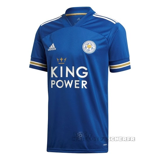 Equipement Maillot Foot adidas Domicile Maillot Leicester City 2020 2021 Bleu