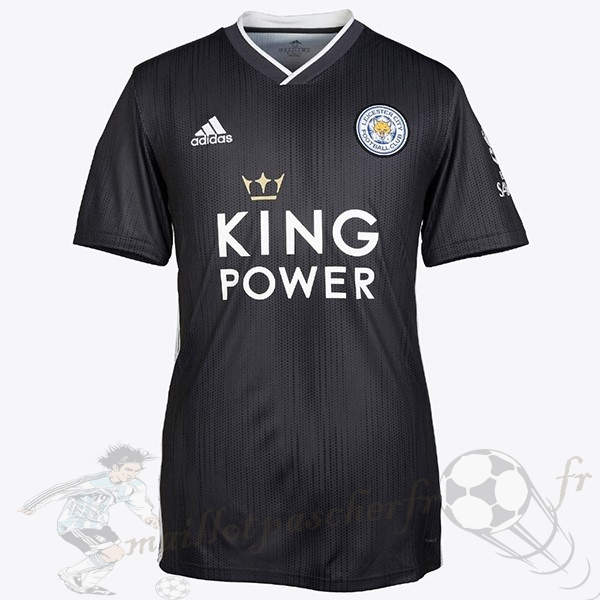 Equipement Maillot Foot adidas Thailande Third Maillot Leicester City 2019 2020 Noir