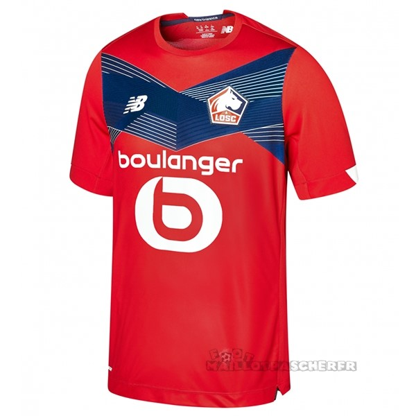 Equipement Maillot Foot New Balance Domicile Maillot Lille 2020 2021 Rouge