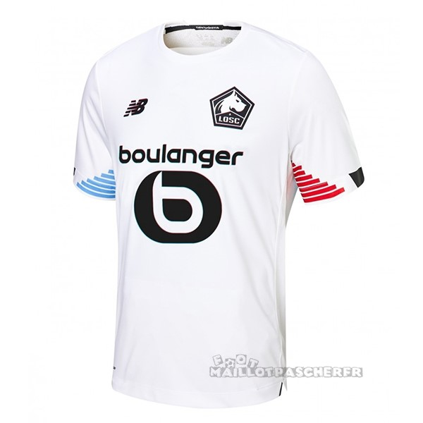 Equipement Maillot Foot New Balance Third Maillot Lille 2020 2021 Blanc