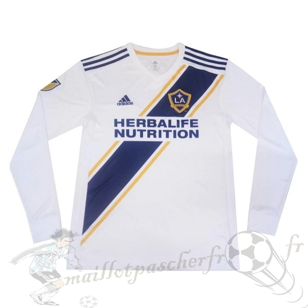 Equipement Maillot Foot adidas Domicile Manches Longues Los Angeles Galaxy 2019 2020 Blanc