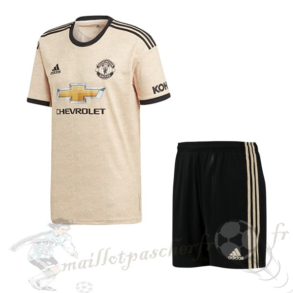 Equipement Maillot Foot Adidas Exterieur Ensemble Enfant Manchester United 2019 2020 Orange