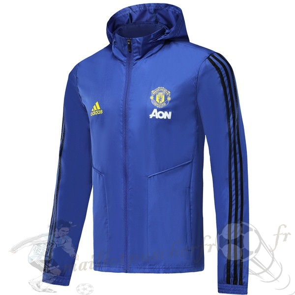 Equipement Maillot Foot adidas Coupe Vent Manchester United 2019 2020 Bleu