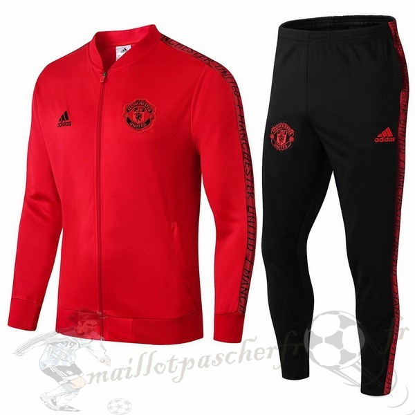 Equipement Maillot Foot Adidas Survêtements Manchester United 2019 2020 Rouge