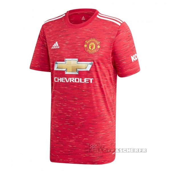 Equipement Maillot Foot adidas Domicile Maillot Manchester United 2020 2021 Rouge