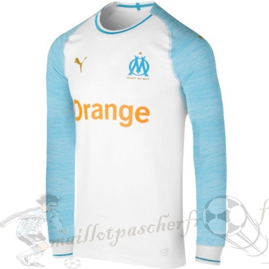Equipement Maillot Foot Puma Domicile Maillot Manches Longues Marseille 2018 2019 Blanc