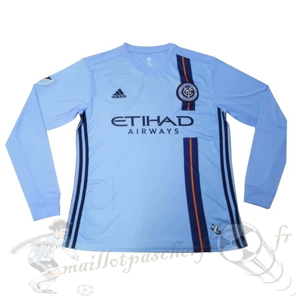 Equipement Maillot Foot adidas Domicile Manches Longues New York City 2019 2020 Bleu