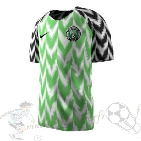Equipement Maillot Foot Nike Domicile Maillot Nigeria 2018 Vert