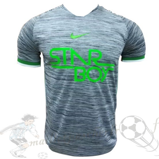 Equipement Maillot Foot Nike Entrainement Nigeria 2018 Gris