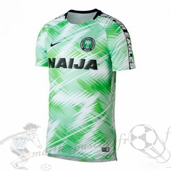 Equipement Maillot Foot Nike Entrainement Nigeria 2018 Vert